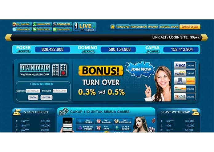 BandarKiu.ID Poker Online, Sakong, DominoQQ, BandarQ – screenshot 1