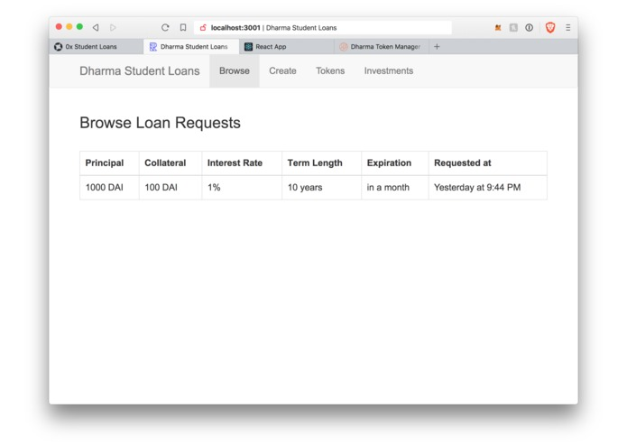 Tokenize Student Loans – screenshot 2