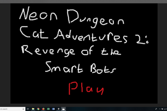 Neon Dungeon Cat Adventures: Revenge of the Smart Bots