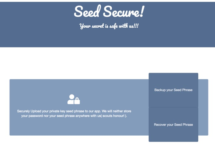 SeedSecure – screenshot 1