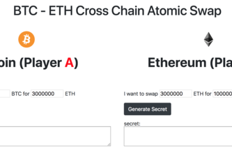 BTC - ETH Cross Chain Atomic Swap