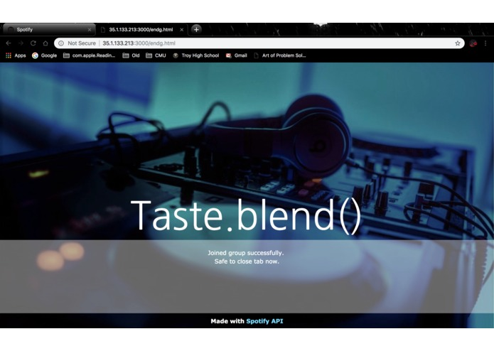 Taste.blend() – screenshot 2