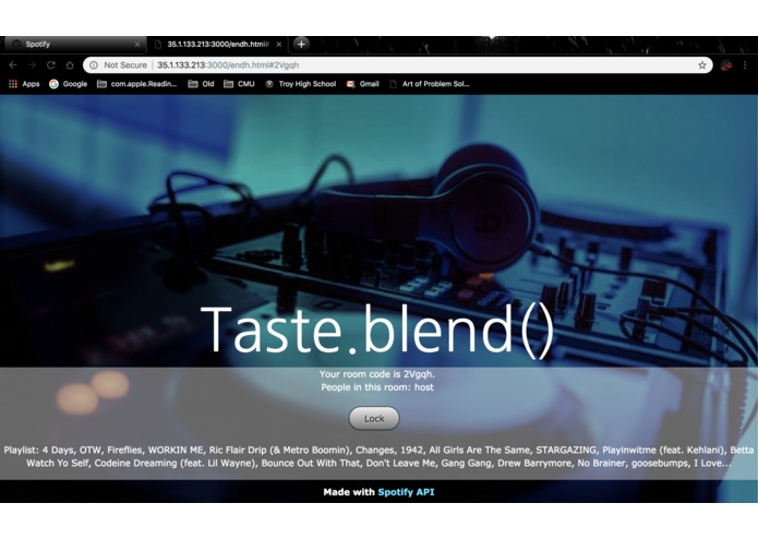 Taste.blend() – screenshot 3