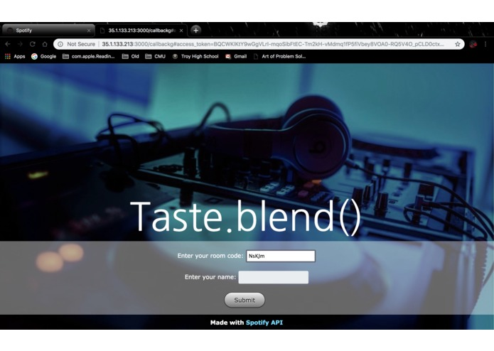 Taste.blend() – screenshot 4