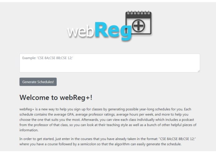 webReg+ – screenshot 2