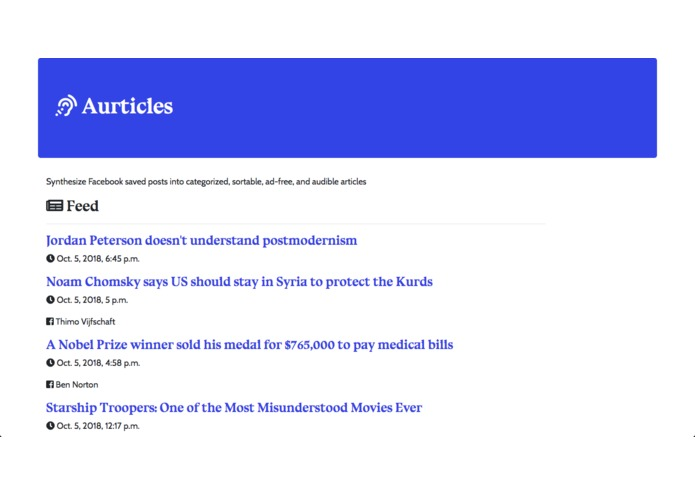 aurticles – screenshot 1