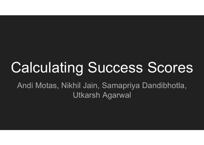 Calculating Success Scores – screenshot 1