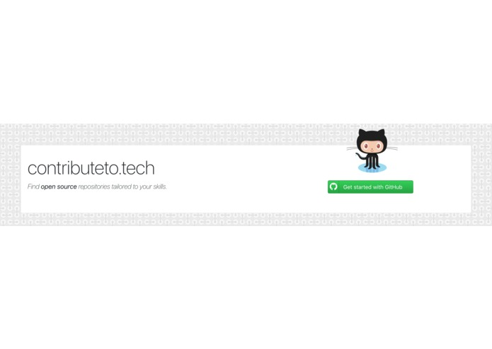 contributeto.tech – screenshot 2