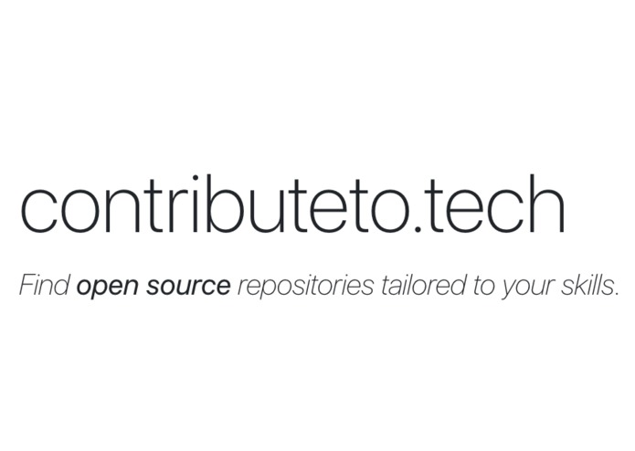 contributeto.tech – screenshot 1