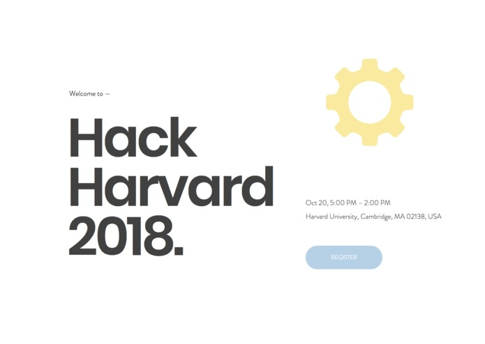HackHarvard Website 2.0 – screenshot 1