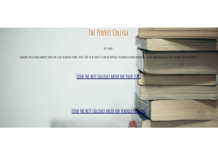 ThePerfectCollege.Net – screenshot 1
