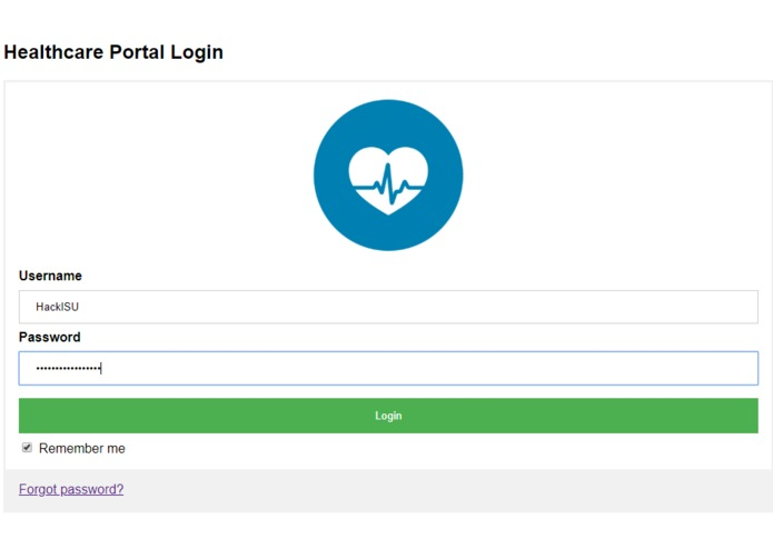 Healthcare Portal Chatbot – screenshot 1