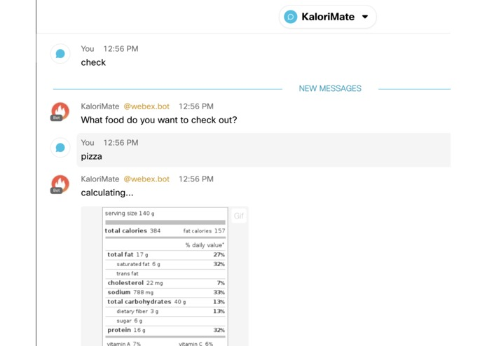 KaloriMate Bot – screenshot 2