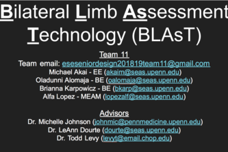 Team 11: Bilateral Limb Assessment Technology (BLAsT)