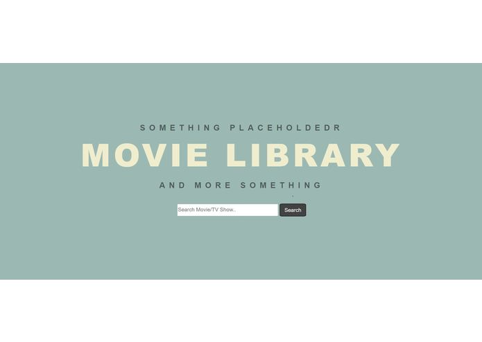 MovieLibrary – screenshot 1