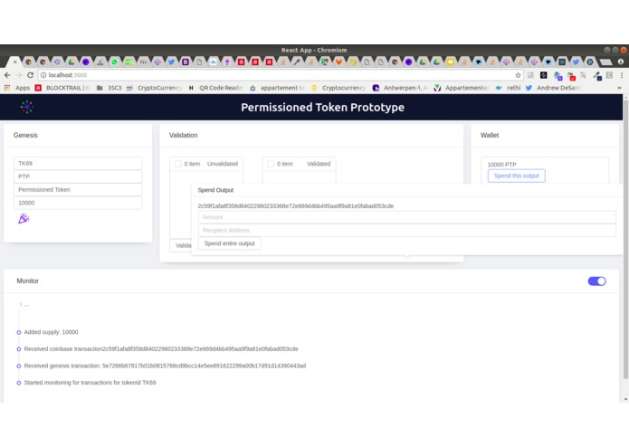 Permissioned Token Prototype [Bitcoin Cash track] – screenshot 9