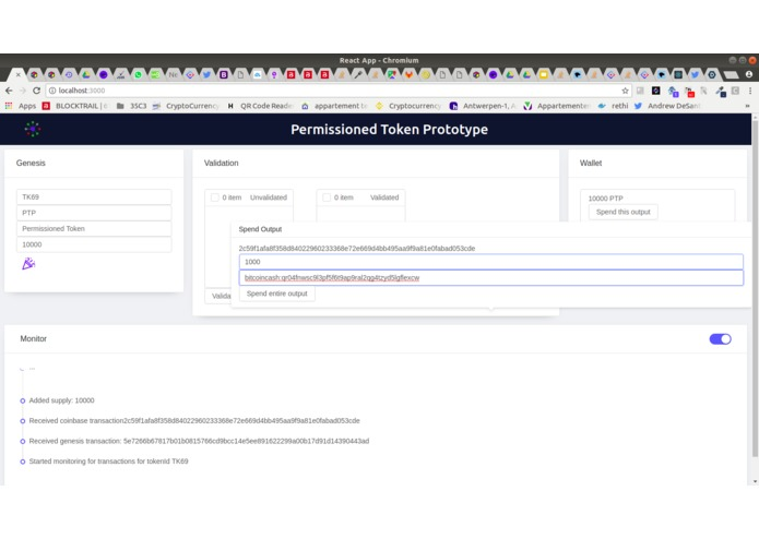 Permissioned Token Prototype [Bitcoin Cash track] – screenshot 11