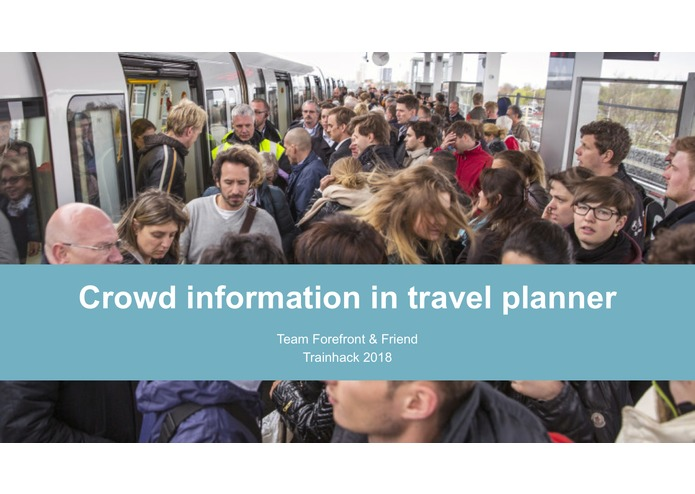 Crowd information in travel planner – screenshot 1