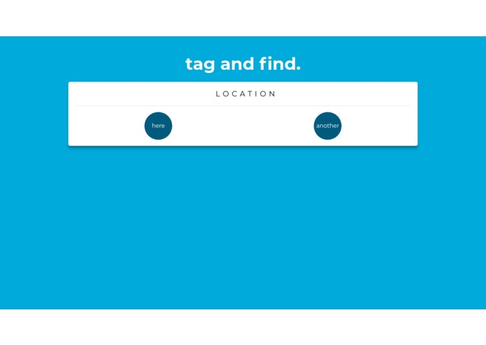 Tag&Find – screenshot 1