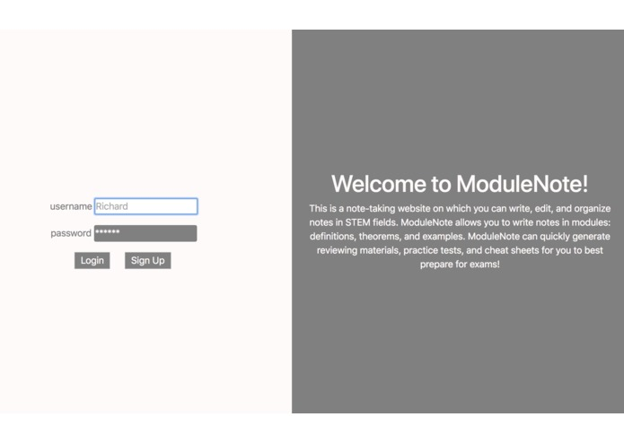 ModuleNote – screenshot 1
