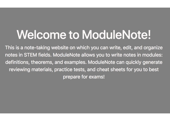 ModuleNote – screenshot 2
