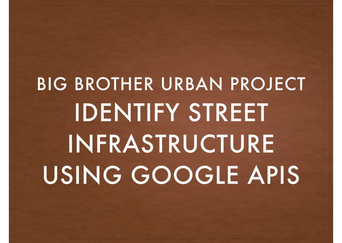 BigBrother UrbanPlanningProject – screenshot 3