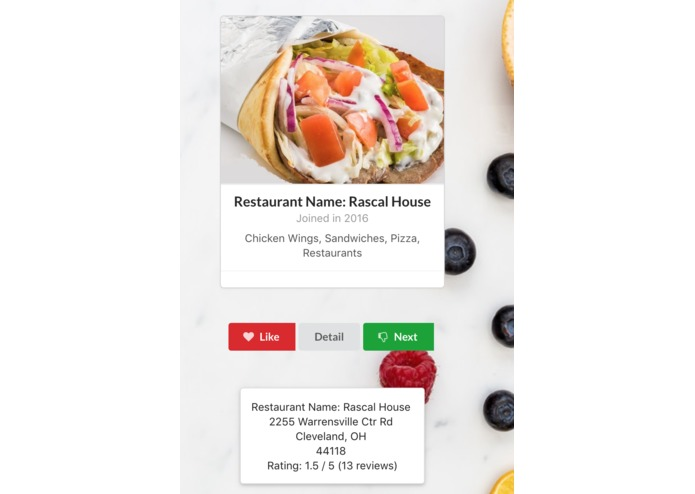 GFood – screenshot 1
