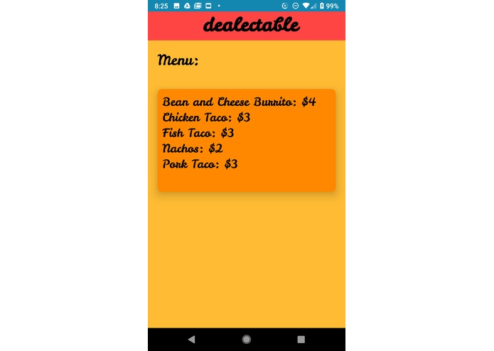 Dealectable – screenshot 2