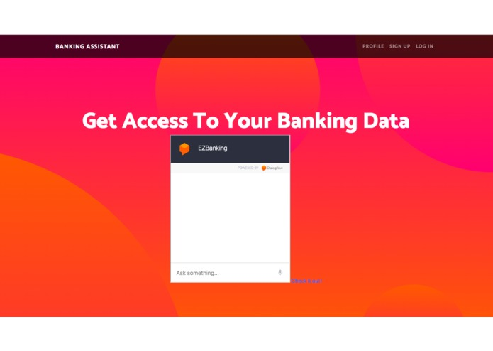 BANKING ASSISTANCE – screenshot 1