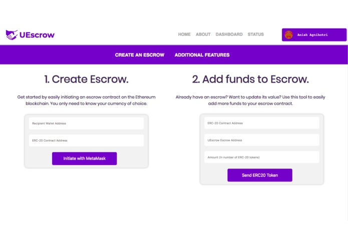 UEscrow – screenshot 4