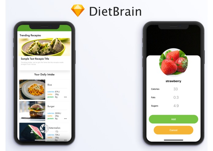 iDiet_OxfordHackathon2018 – screenshot 1