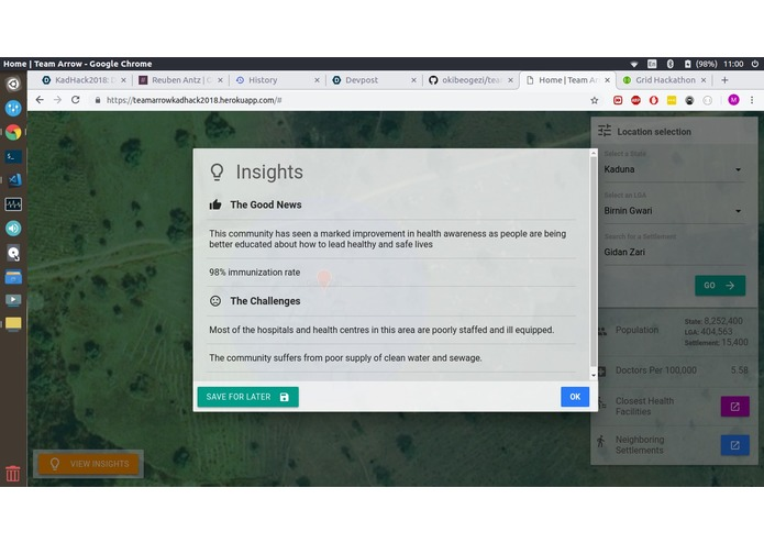 Outreach Insights by Team Arrow – screenshot 2