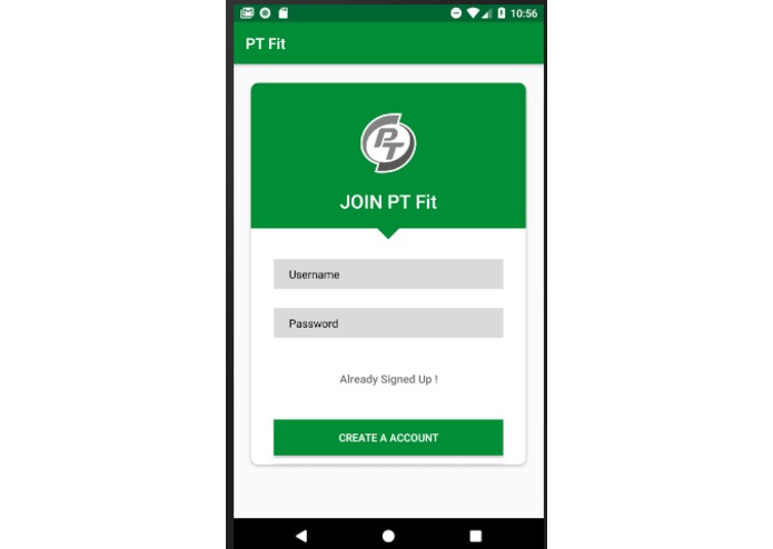 PT Fit ( Android App ,Website and Presentation ) – screenshot 2