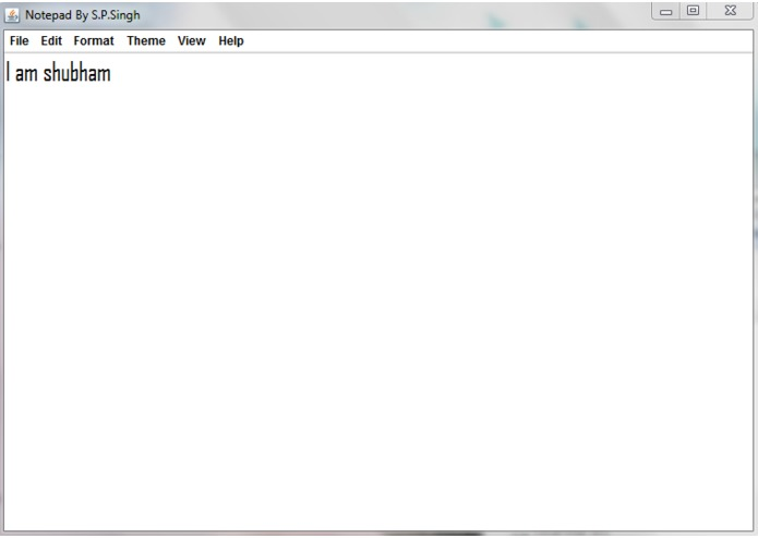 Notepad – screenshot 3