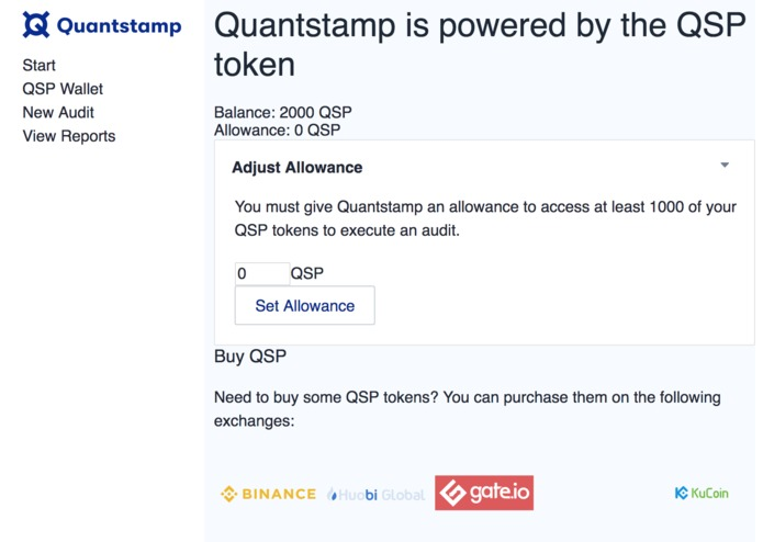 Quantstamp UI – screenshot 2