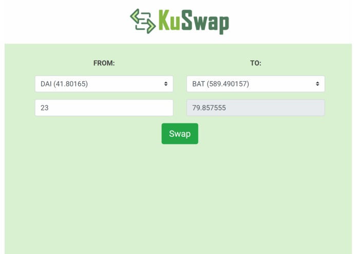 KuSwap – screenshot 1