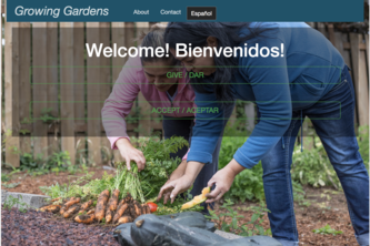 Growing Gardens Donate Portal