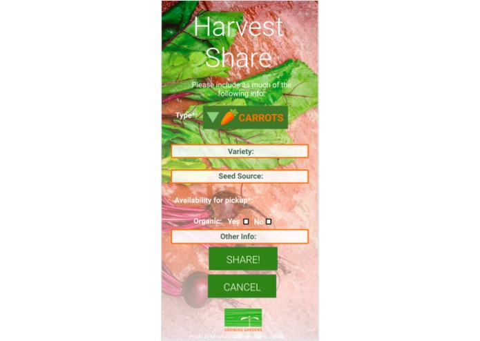 Team 5: Harvest Share – screenshot 2