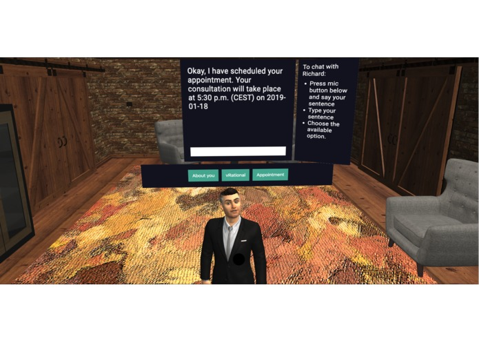 vRational - 3D Virtual Business Assistant for Web & AR – screenshot 1