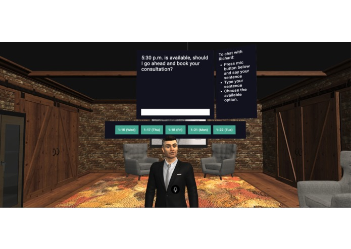 vRational - 3D Virtual Business Assistant for Web & AR – screenshot 2