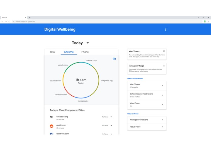 Digital Wellbeing for Chrome – screenshot 4