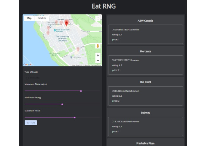 EatRNG – screenshot 1