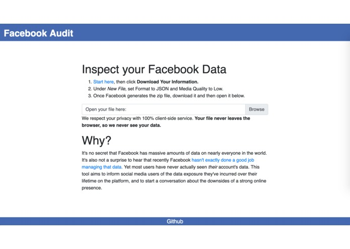Facebook Audit – screenshot 1