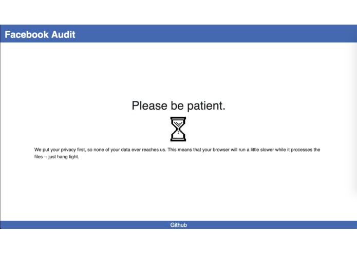 Facebook Audit – screenshot 2