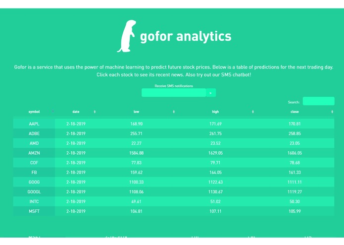 Gofor Analytics – screenshot 2