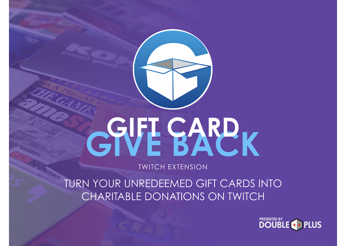 The Gift Card Give Back Twitch Extension – screenshot 1