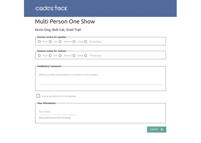 CodeStock Speaker Feedback – screenshot 4