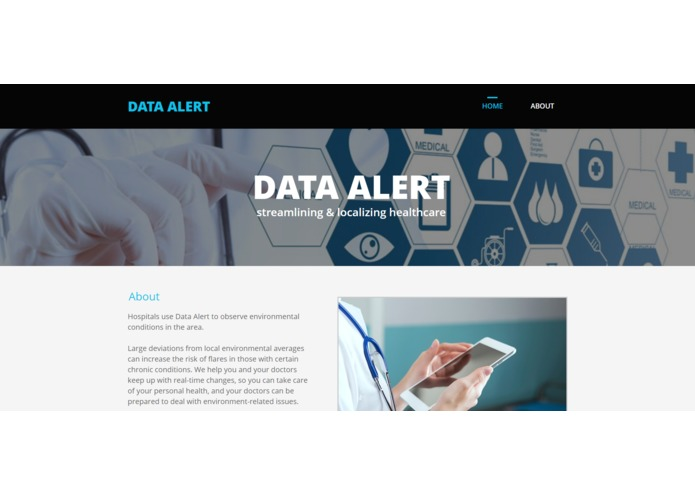 Data Alert – screenshot 2