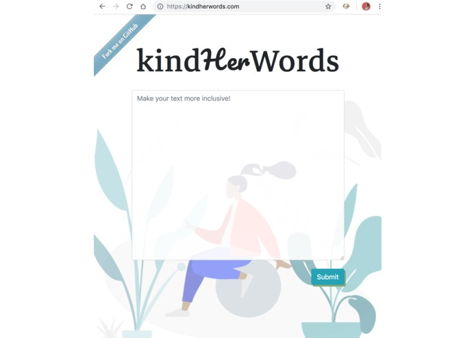 kindHerWords – screenshot 2
