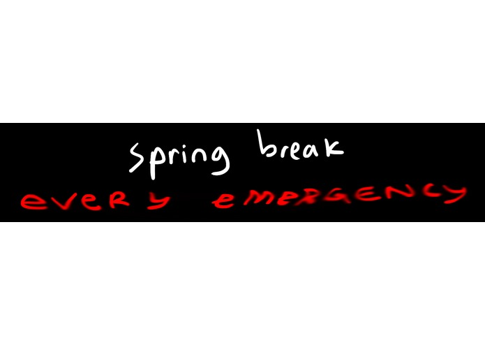 Spring Break // every emergency – screenshot 1